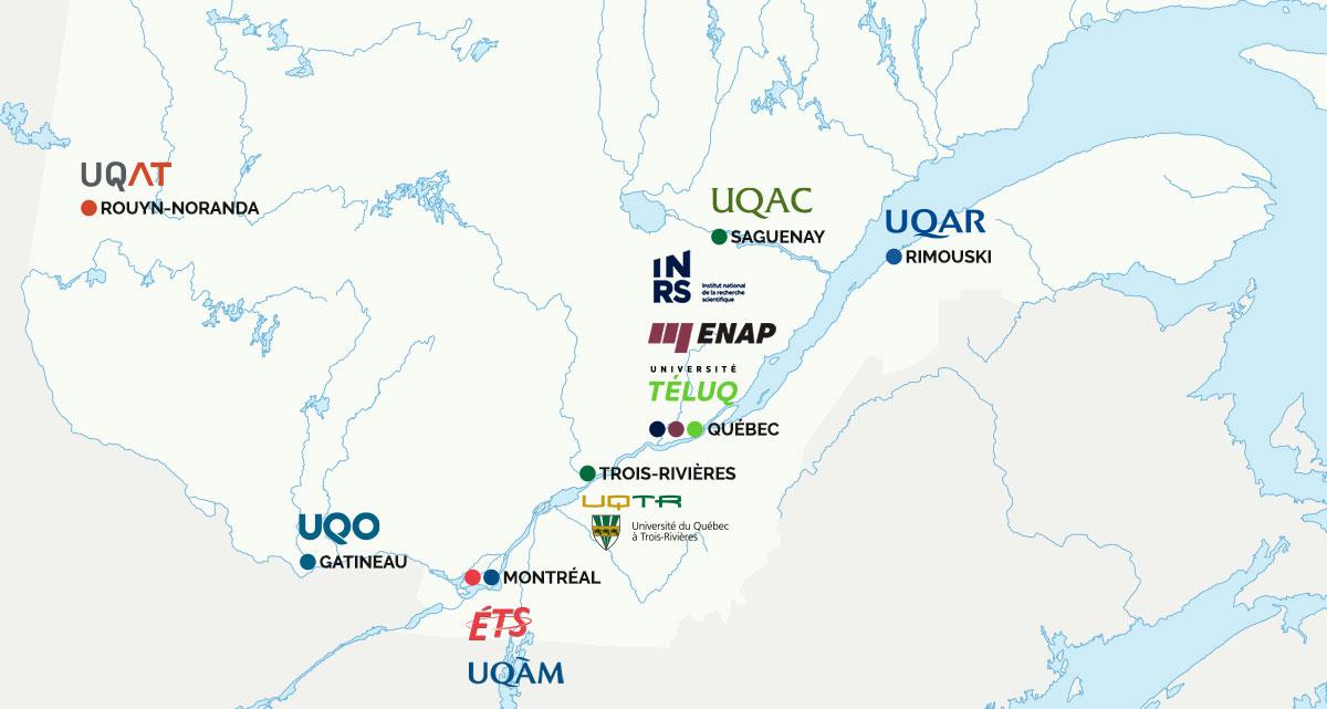 Réseau Universités membres